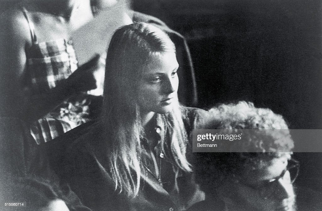 Acress Jodie Foster is shown among other incoming Yale students last September during a welcoming address by Yale President Bartlett Giametti. According to sources, she has received three notes at her apartment from accused Presidential attacker, John W. Hinckley Jr., during the school year. April 1, 1981.