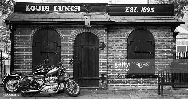 New Haven, CT - Hamburger restaurant and motorcycles