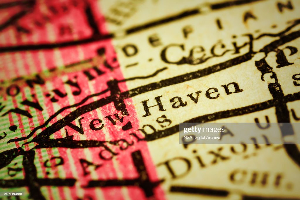 New Haven Indiana On An Antique Map Stock Photo Getty Images