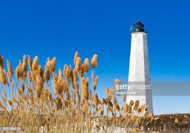 new haven lighthouse in winter - ニューヘイブン ストックフォトと画像