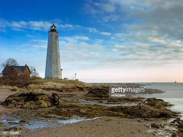 ニューヘブン灯台(ct ) - ニューヘイブン ストックフォトと画像
