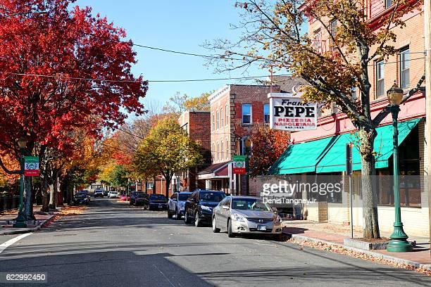 ウースター通りのニューヘイブンのリトルイタリー - ニューヘイブン ストックフォトと画像