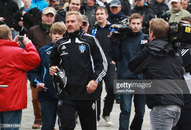 New head coach Thorsten Fink of Hamburg is seen prior to a Hamburger SV training session on October 18, 2011 in Hamburg, Germany.