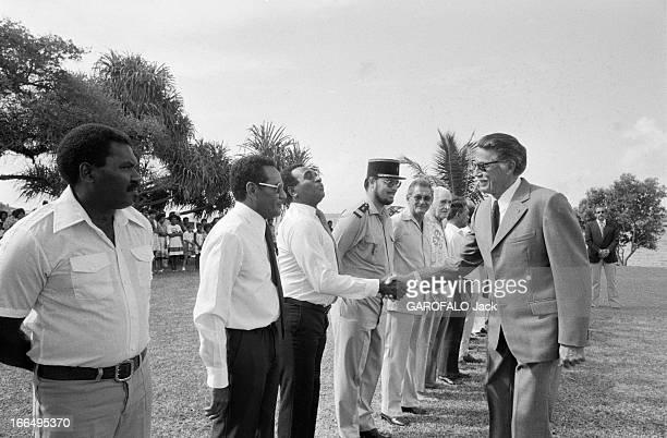 New Hebrides NouvellesHébrides 20 juin 1980 La colonnie francobritannique un mois avant son indépendance à l'occasion du 18 juin sur l'île de Spirito...