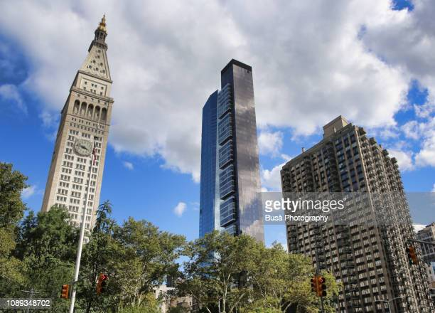 New highrise luxury condominium towers close to the Metropolitan Life Insurance Company Tower at Madison Square Park, Manhattan, New York City
