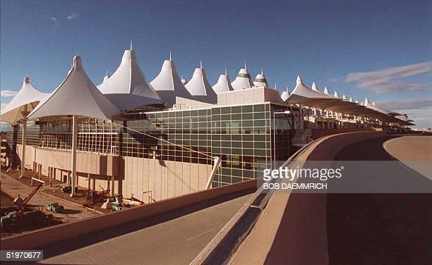 A new highspeed road system for arrivals and departures is one of the highlights at the new Denver International Airport shown here 01 February as...