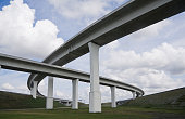 new highway construction overpass