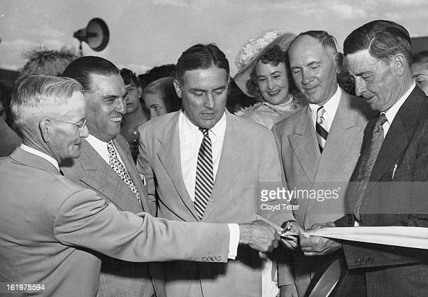 JUN 23 1952 New Highway Officially Openedparticipating in the ceremonies opening Clear Creek highway are Mark U Watrous Frank H Ricketson Jr Mayor...
