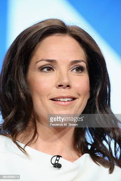 New HLN show host Erica Hill speaks onstage during the 'HLN/Live from NY LA Atlanta' panel discussion at the Turner portion of the 2016 Television...