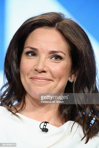 New HLN show host Erica Hill speaks onstage during the 'HLN/Live from NY, LA & Atlanta' panel discussion at the Turner portion of the 2016 Television...