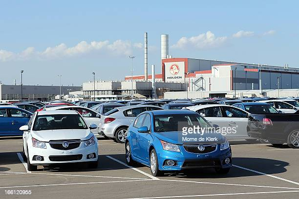 New Holden vehicles stand at the Holden manufacturing plant at Elizabeth on April 9 2013 in Adelaide Australia Holden announced plans to cut up to...