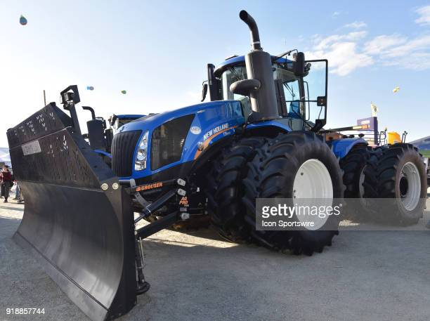 New Holland T9 600 4WD tractor on display during the 51st World Ag Expo on February 13 2018 at the International AgriCenter in Tulare CA