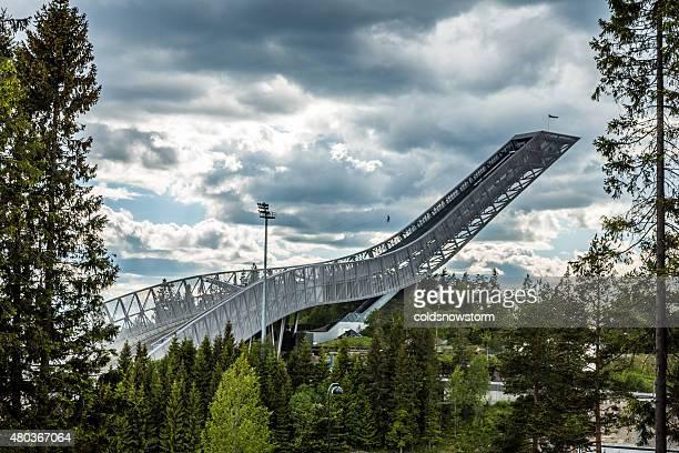 New Holmenkollen Ski Jump in Oslo, Norway