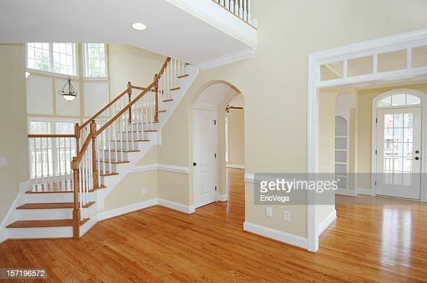 new home interior - hardwood stock pictures, royalty-free photos & images