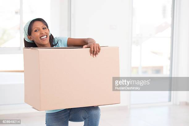 new home, new beginnings. - images of fat black women stock photos and pictures
