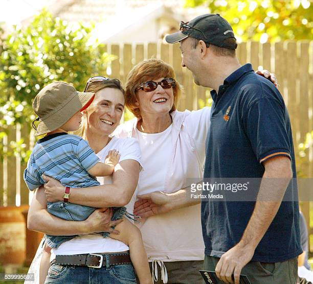 New home owners Antony and Mandy Gowthorp with son Alex celebrate their purchase of a Lane Cove property for $1127 million 8 April 2006 SHD PROPERTY...