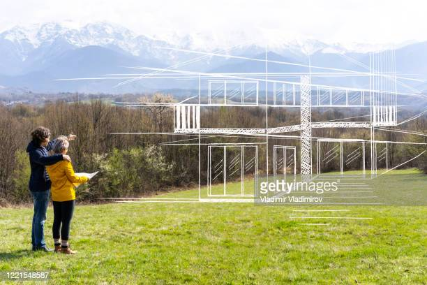 new home plans - construction industry stock pictures, royalty-free photos & images