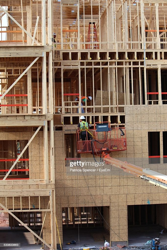 New Home Under Construction : Foto stock