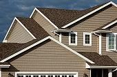 New Home, Vinyl Siding, Architectural Asphalt Shingle Roof, Real Estate