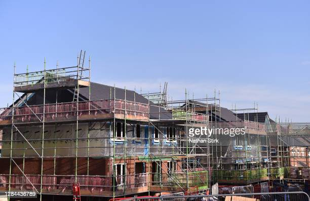 New homes are seen being built on November 07, 2020 in Congleton, Cheshire .