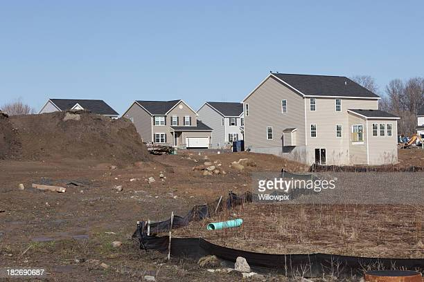 New Homes Silt Fence and Construction Site Building Debris