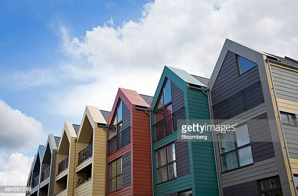 New homes stand on a residential housing development in the Nunhead district of London UK on Thursday May 22 2014 UK house prices rose for a 16th...