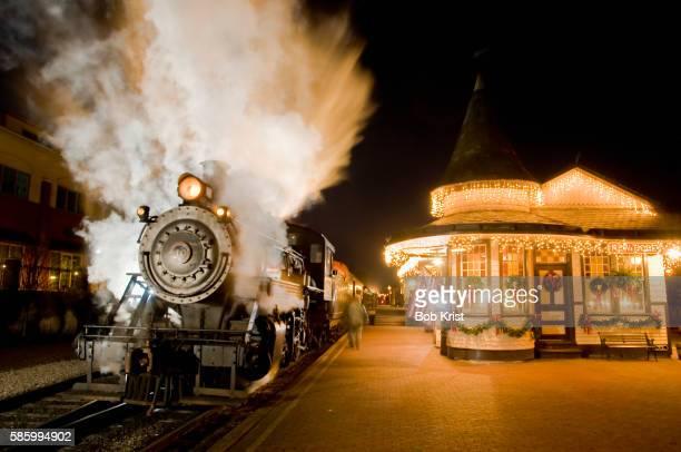 New Hope and Ivyland Railroad sightseeing train at Christmas