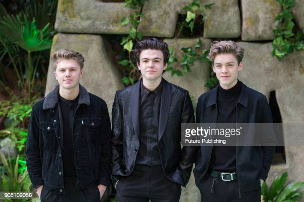 New Hope Club arrive for the world film premiere of 'Early Man' at the BFI Imax cinema in the South Bank district of London January 14 2018 in London...