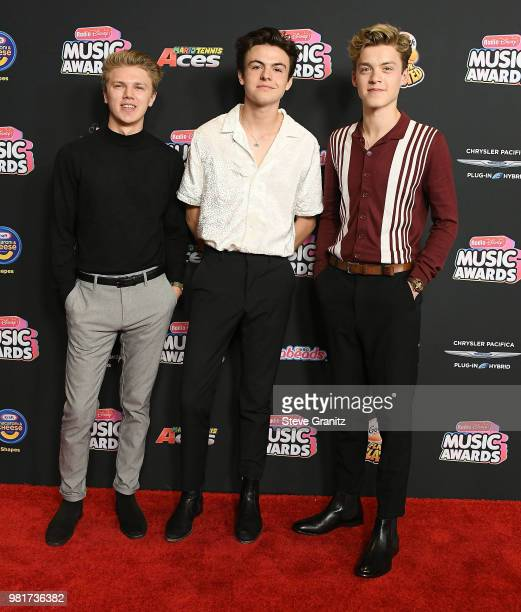New Hope Club arrives at the 2018 Radio Disney Music Awards at Loews Hollywood Hotel on June 22 2018 in Hollywood California