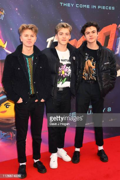 New Hope Club attend the multimedia screening of The Lego Movie 2 The Second Part at Cineworld Leicester Square on February 02 2019 in London England