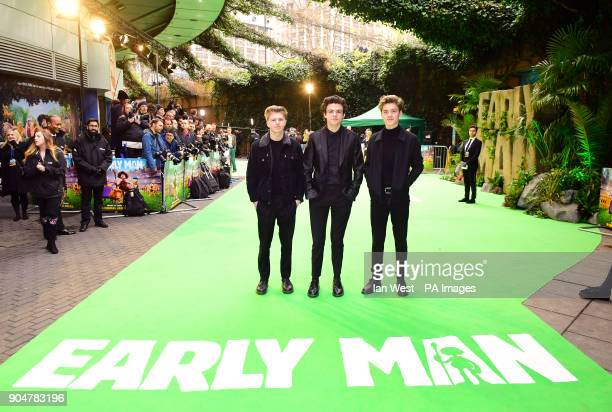 New Hope Club attending the Early Man World Premiere held at the BFI Imax London