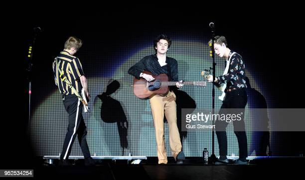New Hope Club perform live on stage at The O2 Arena on April 28 2018 in London England
