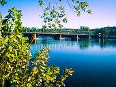 1904 New Hope - Lambertville Steel Truss Bridge over Delaware River
