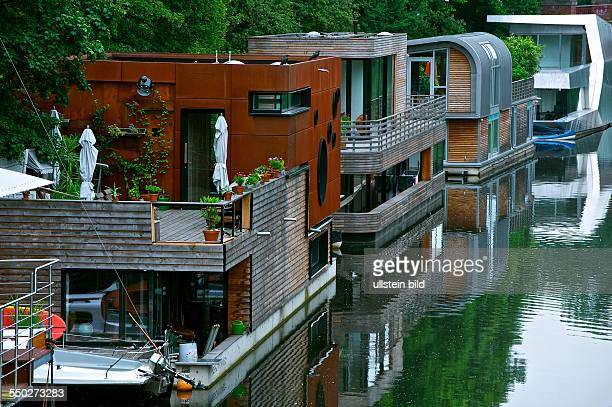 New houseboats at the Hamburg Elbkanal. Hamburg, Hamburg, Germany ,