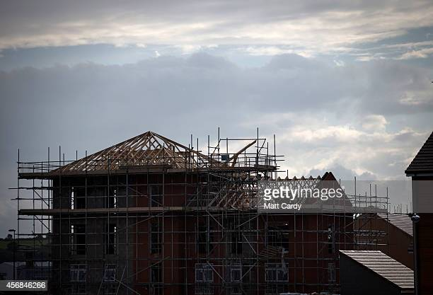 New houses are contructed on a housing estate on October 8 2014 in Bristol England On the first anniversary of the introduction of second phase of...