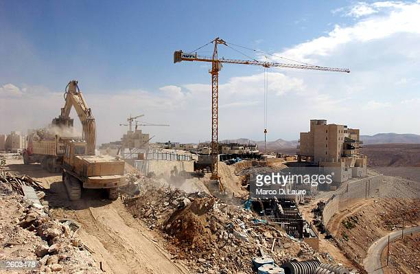 MA'ALE ADUMIM WEST BANK OCTOBER 16 New houses are seen under construction October 16 2003 in the Jewish settlement of Ma'ale Adumim West Bank The...
