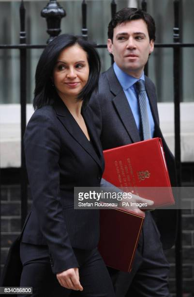 New Housing and Planning Minister Caroline Flint and newly appointed Culture Media and Sport Secretary Andy Burnham leave No10 Downing Street in...