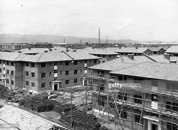 New housing construction in a Western suburb of Peking Late 1950s or early 1960s