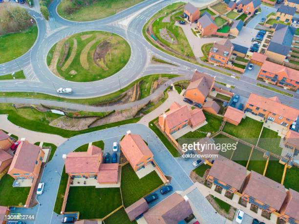 new housing development from above - new stock pictures, royalty-free photos & images