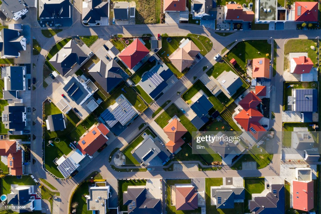 New Housing Estate from Above : Stock Photo