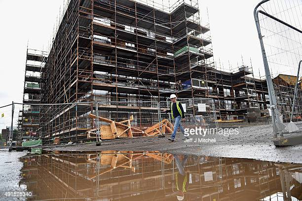 New housing under construction in the Gorbals area on October 6 2015 in Glasgow Scotland Recent reports indicate that affordable housing in Scotland...