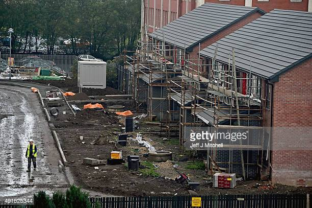 New housing under construction in the Govan area on October 6 2015 in Glasgow Scotland Recent reports indicate that affordable housing in Scotland...