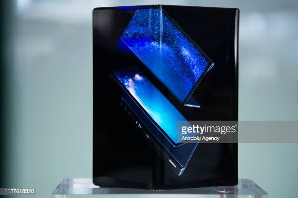 New Huawei's Mate X smartphone is displayed at the Mobile World Congress in Barcelona Spain on February 26 2019