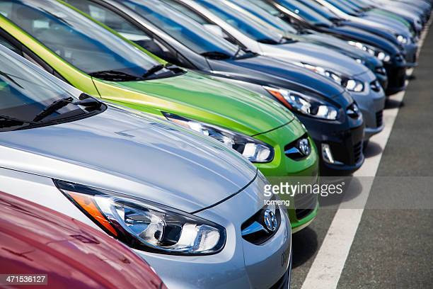 New Hyundai Accent Vehicles in a Row