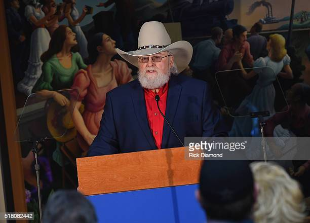 New Inductee Charlie Daniels attends the CMA Presentation of The 2016 Country Music Hall Of Fame Inductees Announcement at the Country Music Hall of...