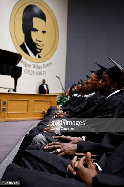New inductee's during the induction ceremony at the 3rd Pi Eta Kappa Honor Society Induction Ceremony at Medgar Evers College on April 25 2008 in...