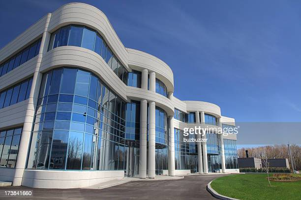 new industry building exterior - headquarters stock pictures, royalty-free photos & images