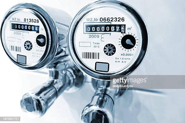 New installed water meter in bathroom