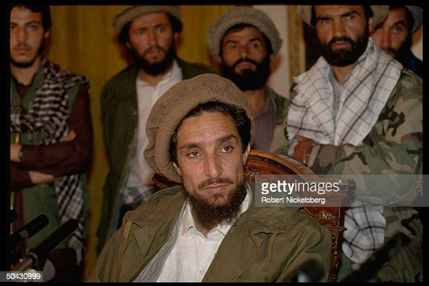 New interim govt Def Min Ahmed Shah Massoud top mil ldr of mujahedin forces who defeated Najibullah regime