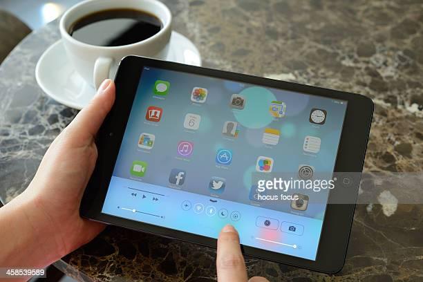 Contrôle nouveau iOS 7 écran sur iPad Mini centre de
